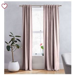 West Elm Cotton Luster Velvet Curtains - Set of 2